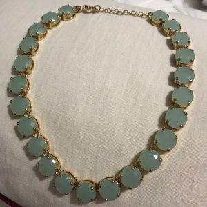 JCrew statement necklace: sea green colored stones